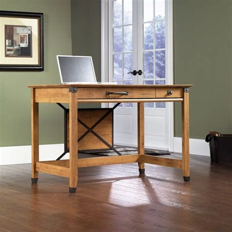 sauder registry row writing desk pine furniture