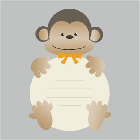 monkey templates for baby shower invites free free printable monkey baby shower invitations dolanpedia
