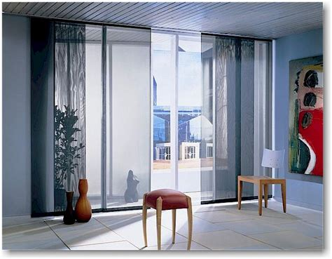 Sliding Panel Window Treatment Blind Alley Panel Track Sliding Window Treatments