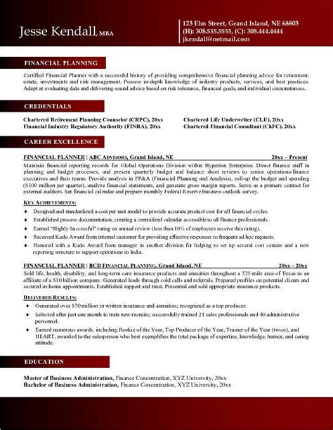 Resume Examples Finance Financial Advisor Resume Example Latest Resume Format