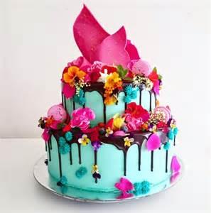 taarten van linda thema taart 6 colour drip cake