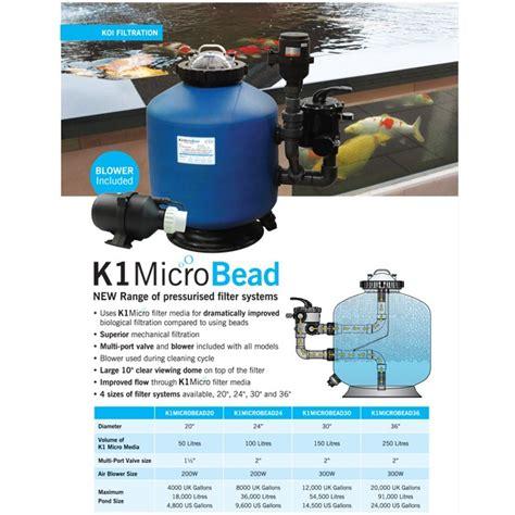 koi pond bead filter evolution aqua k1 micro bead 24 filter evolution aqua