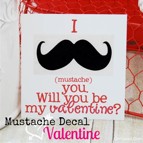 mustache valentines mustache decal idea glam