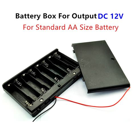 12 volt battery holder 8pcs aa battery box with on