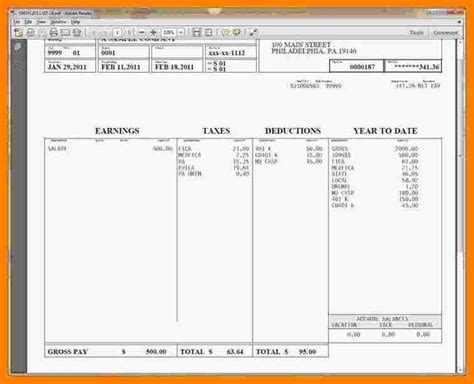 1099 pay stub template free 5 1099 pay stub template free pay stub format