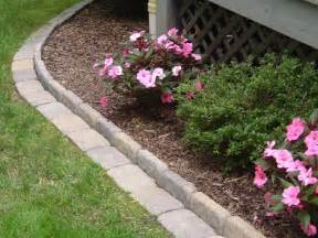 edging a flower bed with cement pavers infobarrel