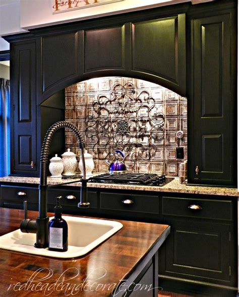 diy black kitchen cabinets diy brick backsplash redhead can decorate