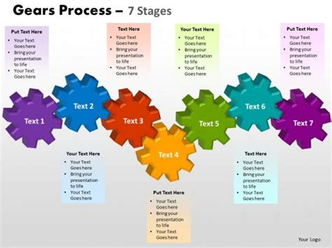 diagram templates for powerpoint free download powerpoint template diagram gears process ppt slides