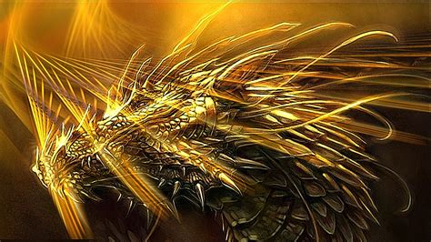 Wallpaper Gold Dragon | golden dragon wallpaper