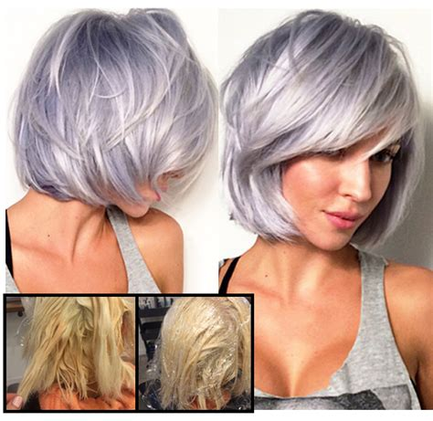 hairstyles with silver color steel lavender how to w formulas haircolor