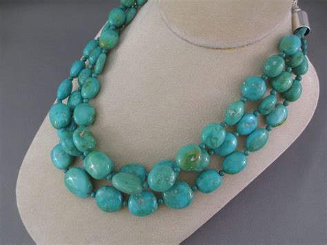 turquoise necklace kingman turquoise necklace by desiree yellowhorse navajo