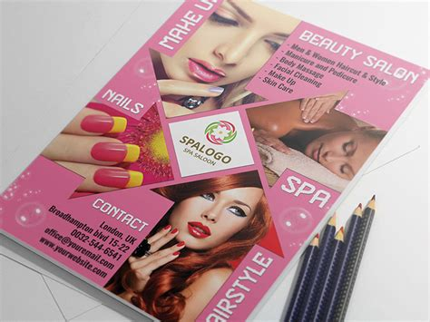 Hair And Beauty Salon Flyer Template Landisher Salon Flyer Templates Free
