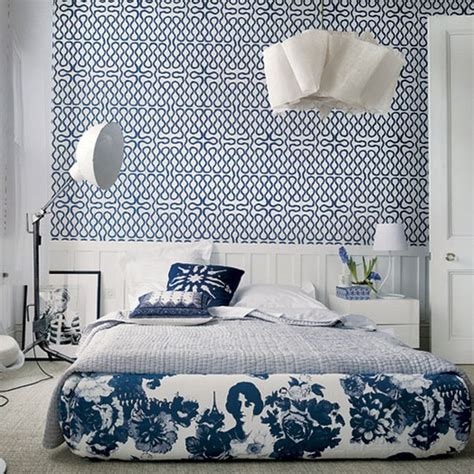 white and blue bedroom blue white patterns bedroom panda s house
