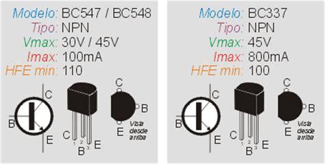 transistor bc547 y bc548 como controlar un rel 233 con un transistor inventable