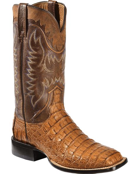 lucchese caiman square toe boots lucchese s handmade 1883 rhys hornback caiman cowboy