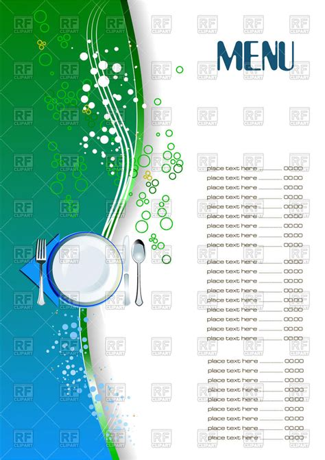 menu design eps file restaurant menu blank template royalty free vector clip