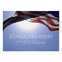 congratulations us citizenship us flag zazzle