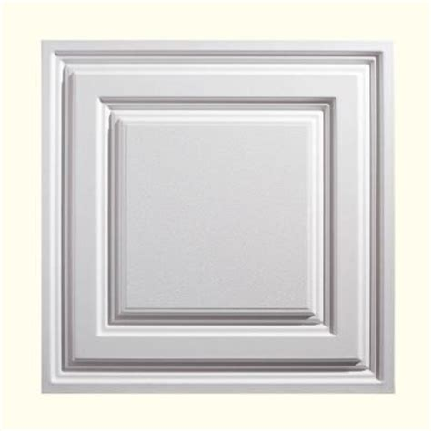 genesis 2 ft x 2 ft icon relief white ceiling tile 754