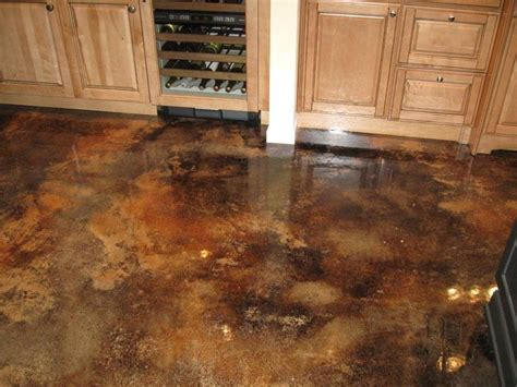 Acid Stained Concrete Floor   For the Home   Pinterest