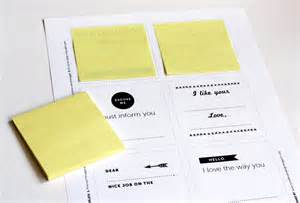 Printing On Post It Notes Template by Print Your Own Post It Notes How About Orange