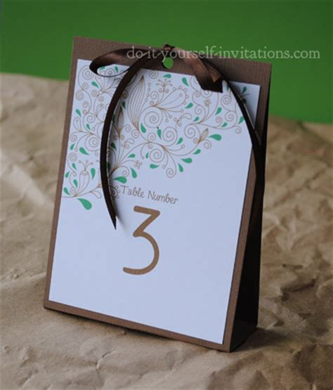 table number and menu card template invitation template and diy invitations how to