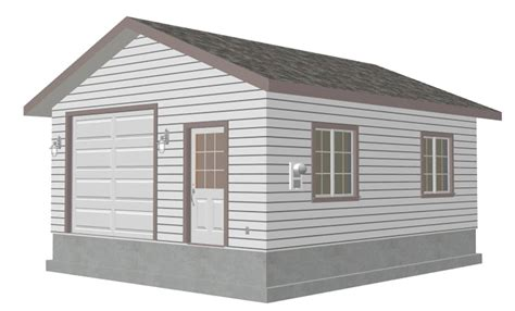 Garage Shed Designs plan g446 custom 20 x 24 9 garage blueprint free house plan
