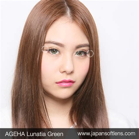 Softlens Gel Ageha Soft Lens Gel Ageha Dia 15mm Water 55 Korea Terl softlens green ageha lunatia green japan softlens