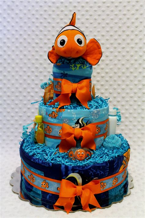 Nemo Baby Shower Cake by Finding Nemo Baby Cake With Burp Cloths