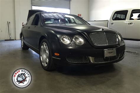satin black bentley bentley continental flying spur satin black car wrap