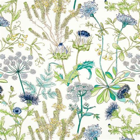 floral home decor fabric teal and navy blue upholstery fabric green yellow floral