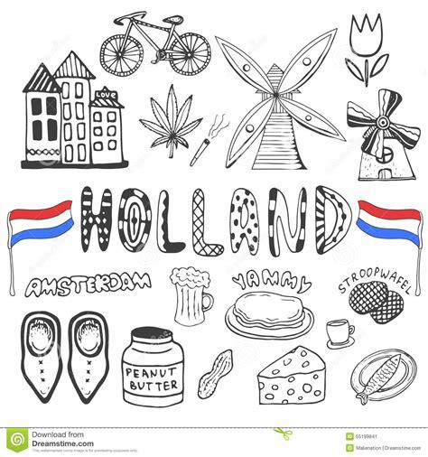 doodlebug nederland krabbelhand getrokken inzameling de pictogrammen