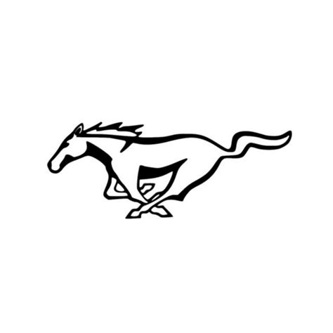mustang logo mustang logo vinyl decal sticker 5 0 gt pony