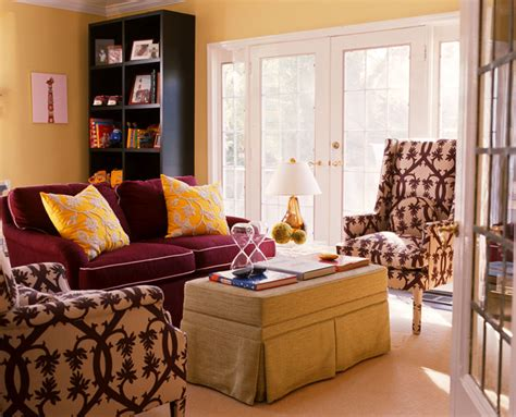 red and yellow living room infusing yellow in your color scheme and interior design by amanda nisbet simplified bee