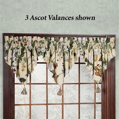 Ascot Window Valances Garden Images Iii Magnolia Floral Ascot Valances