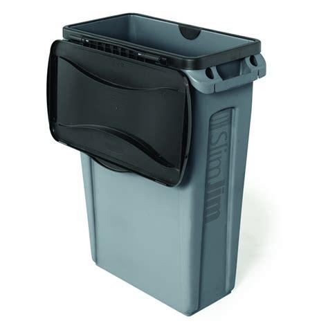 slim jim trash can 23 gal slim jim waste bin with venting channels trashcans warehouse