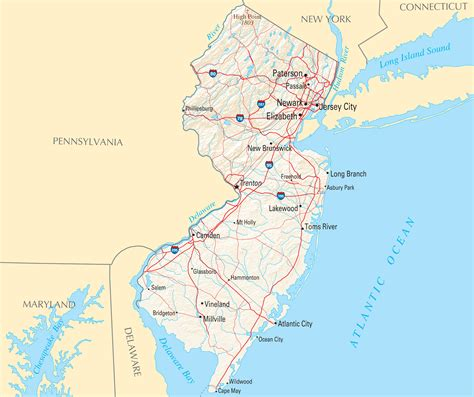 map new jersey new jersey map blank political new jersey map with cities