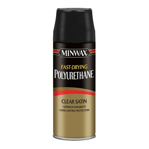 spray paint polyurethane minwax 11 5 oz satin fast drying polyurethane aerosol