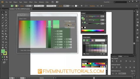 color themes adobe illustrator adobe illustrator color picker and color palette tutorial