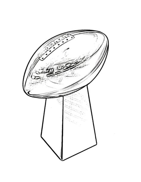 super coloring pages nfl trophy super bowl coloring page for kids kids coloring