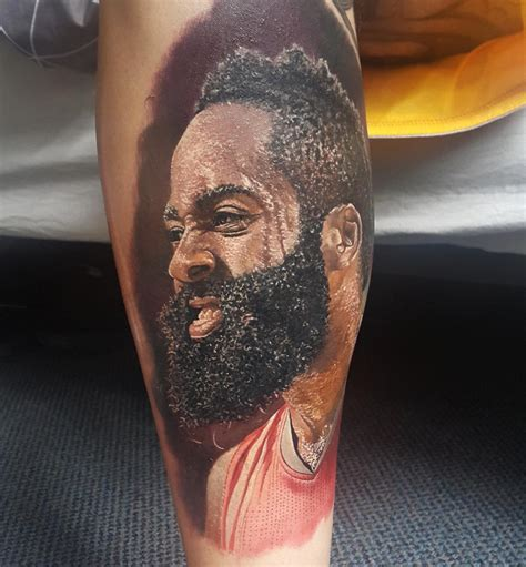 nba tattoos fan gets an epically real harden nba ink