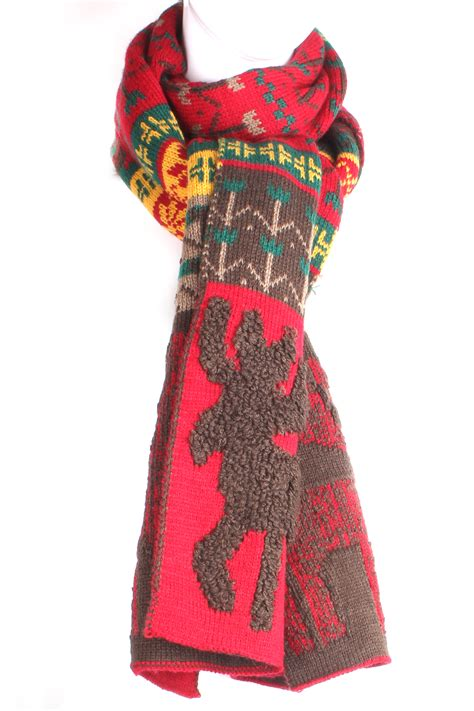 Knitting Pattern Nordic Scarf | knit reindeer nordic pattern scarf scarves