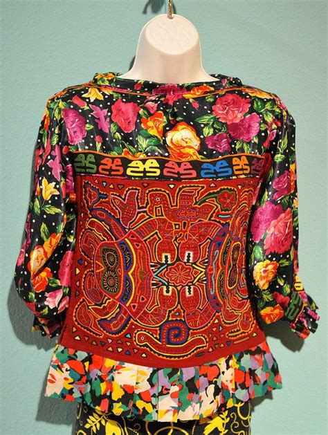Blouse Mol 1000 images about mola textile of the kuna indians