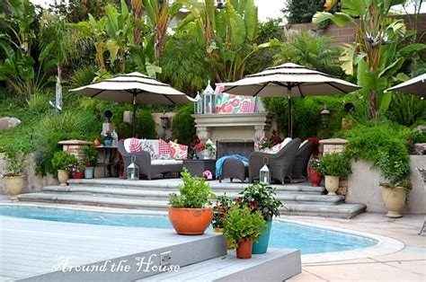 backyard paradise beautiful backyard with fireplace pool and great seating