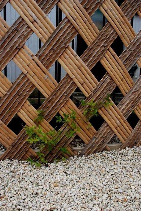 simple bamboo fence ideas   garden bamboo