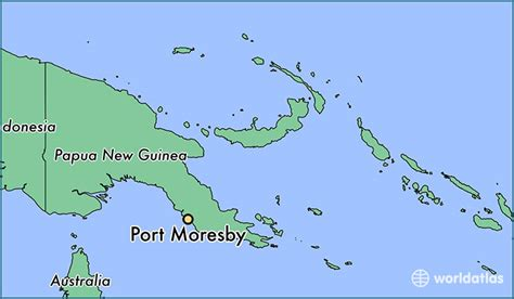 port moresby map where is port moresby papua new guinea where is port