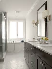 espresso double vanity contemporary bathroom