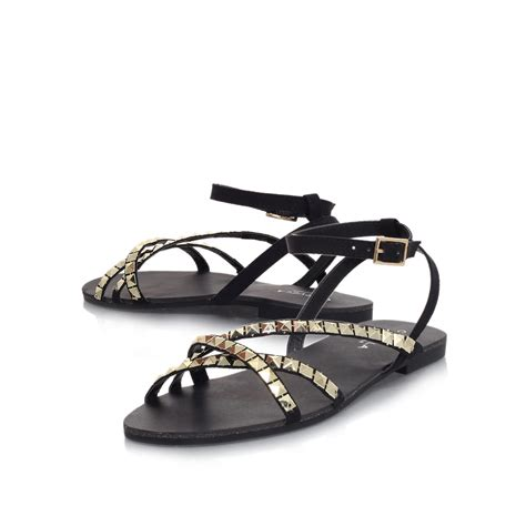 flat embellished sandals carvela kurt geiger flat embellished sandals in