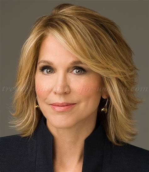 below shoulder hairstyles for mature women shoulder length hairstyles over 50 paula zahn layered