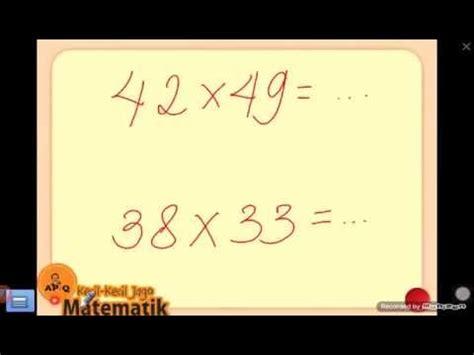 Cara Cepat Mudah Taklukkan Matematika Smp trik perkalian cepat mudah matematika sd smp sma