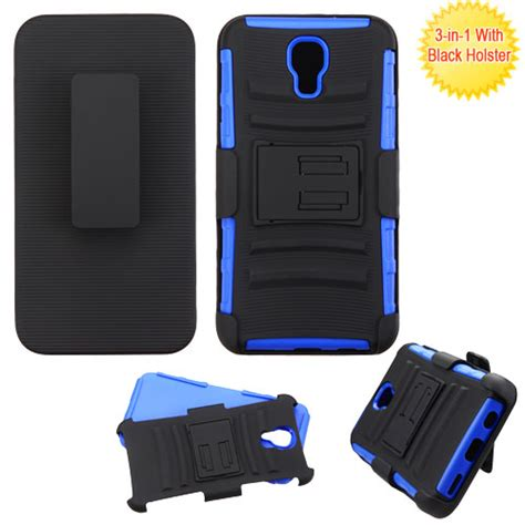 Lg X Screen K500 Future Hybrid Armor Stand With Belt Clip Holster Lg X Screen K500 Blue Advanced Armor Stand